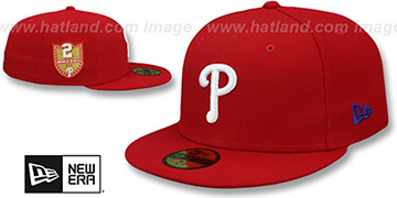 Phillies GOLDEN-HIT Red Fitted Hat by New Era