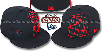 Phillies 'GPS' Black-Red Fitted Hat by New Era
