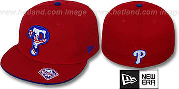 Phillies 'INSIDER BIG-ONE' Red Fitted Hat by New Era