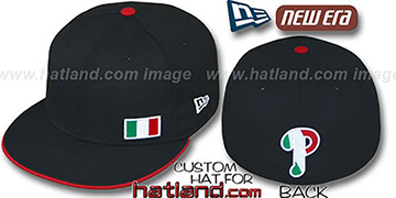 Phillies 'ITALIAN FLAWLESS' Black Fitted Hat by New Era