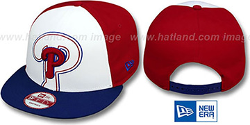 Phillies 'LITTLE-BIG POP SNAPBACK' White-Red-Royal Hat by New Era