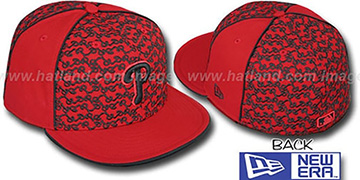 Phillies LOS-LOGOS Red-Black Fitted Hat by New Era