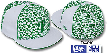 Phillies LOS-LOGOS White-Green Fitted Hat by New Era