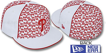 Phillies LOS-LOGOS White-Red Fitted Hat by New Era