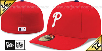 Phillies 'LOW-CROWN' HOME Fitted Hat by New Era