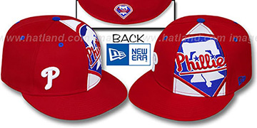 Phillies MASCOT-ZOOM Red Fitted Hat by New Era