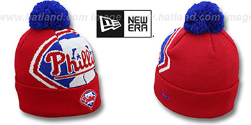 Phillies 'MLB-BIGGIE' Red Knit Beanie Hat by New Era