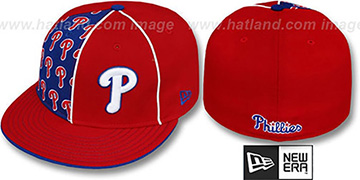 Phillies 'MULTIPLY' Red-Royal Fitted Hat by New Era