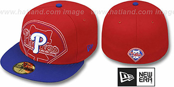 Phillies 'NEW MIXIN' Red-Royal Fitted Hat by New Era