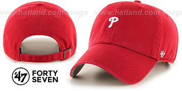 Phillies 'POLO STRAPBACK' Red Hat by Twins 47 Brand