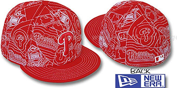 Phillies 'PUFFY REMIX' Red-White Fitted Hat by New Era