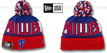 Phillies 'REP-UR-TEAM' Knit Beanie Hat by New Era