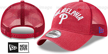 Phillies RUGGED-TEAM TRUCKER SNAPBACK Red Hat by New Era