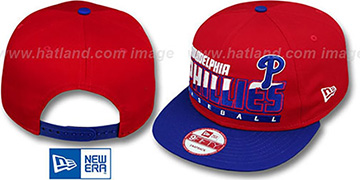 Phillies SLICE-N-DICE SNAPBACK Red-Royal Hat by New Era