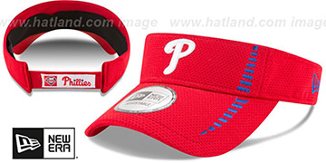 Phillies 'SPEED-VISOR' Red by New Era