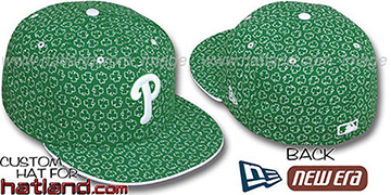 Phillies 'ST PATS FLOCKING' Kelly Fitted Hat by New Era