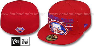 Phillies 'STAR STUDDED' Red Fitted Hat by New Era