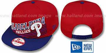 Phillies STILL ANGLIN SNAPBACK Red-Royal Hat by New Era