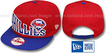 Phillies STOKED SNAPBACK Red-Royal Hat by New Era