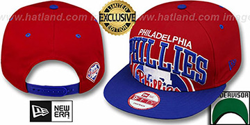 Phillies 'SUPER-LOGO ARCH SNAPBACK' Red-Royal Hat by New Era