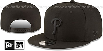 Phillies TEAM-BASIC BLACKOUT SNAPBACK Hat by New Era
