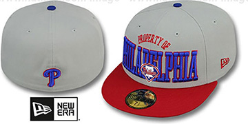 Phillies TEAM-PRIDE Grey-Red Fitted Hat by New Era