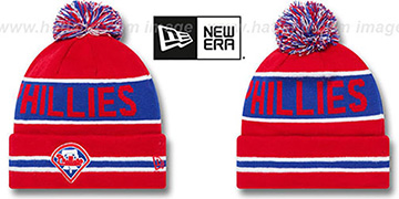Phillies 'THE-COACH' Red Knit Beanie Hat by New Era