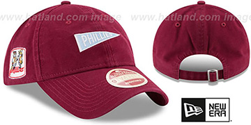 Phillies VINTAGE PENNANT STRAPBACK Burgundy Hat by New Era