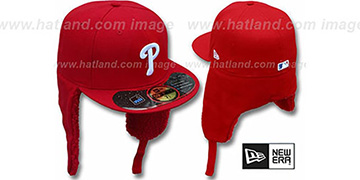 Phillies 'WATER REPELLENT DOGEAR' Red Fitted Hat by New Era
