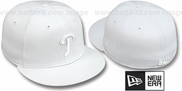 Phillies WHITEOUT Fitted Hat by New Era