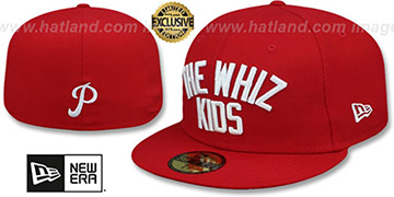 Phillies WHIZ KIDS Red Fitted Hat by New Era