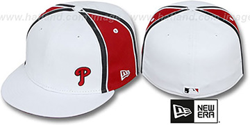 Phillies WILLIAM-III FLAWLESS White-Red Fitted Hat by New Era