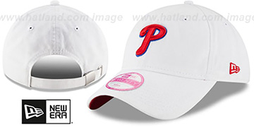 Phillies 'WOMENS PREFERRED PICK STRAPBACK' White Hat by New Era