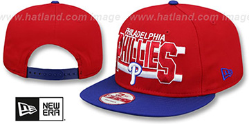 Phillies 'WORDSTRIPE SNAPBACK' Red-Royal Hat by New Era