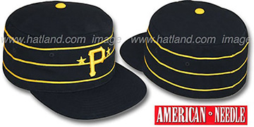 Pirates '1977 PILLBOX' Black Fitted Hat by American Needle