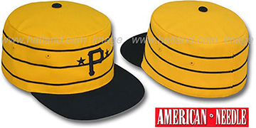 Pirates '1977 PILLBOX' Gold Fitted Hat by American Needle