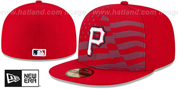 Pirates 2015 JULY 4TH STARS N STRIPES Hat by New Era
