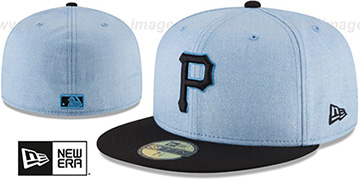 Pirates '2018 FATHERS DAY' Sky-Black Fitted Hat by New Era