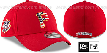 Pirates 2018 JULY 4TH STARS N STRIPES FLEX Red Hat by New Era