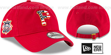 Pirates '2018 JULY 4TH STARS N STRIPES STRAPBACK' Red Hat by New Era