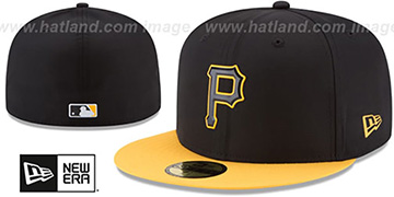Pirates '2018 PROLIGHT-BP' Black-Gold Fitted Hat by New Era