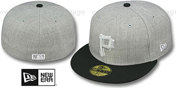 Pirates '2T-HEATHER' Grey-Black Fitted Hat by New Era