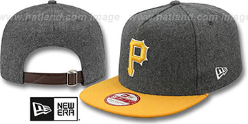 Pirates '2T MELTON A-FRAME STRAPBACK' Hat by New Era