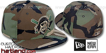 Pirates ALT 'ARMY CAMO' Fitted Hat by New Era