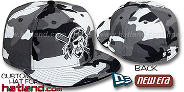 Pirates ALTERNATE 'URBAN CAMO' Fitted Hat by New Era