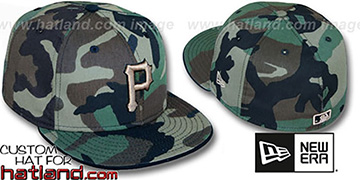 Pirates 'ARMY CAMO' Fitted Hat by New Era