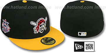Pirates 'BAYCIK' ALT Black-Gold Fitted Hat by New Era