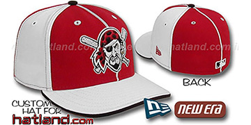Pirates BP 'PINWHEEL-3' Red-White Fitted Hat by New Era