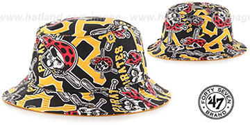 Pirates 'BRAVADO BUCKET' Hat by Twins 47 Brand