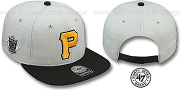 Pirates COOP 'SATCHEL SNAPBACK' Adjustable Hat by Twins 47 Brand